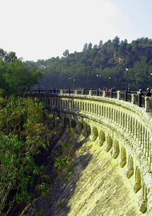 The picturesque old dam is the heart of The Lake District of Malaga