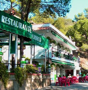 Nice local restaurants and 'ventas' in The Lake District of Malaga and in the white villages of Andalusia