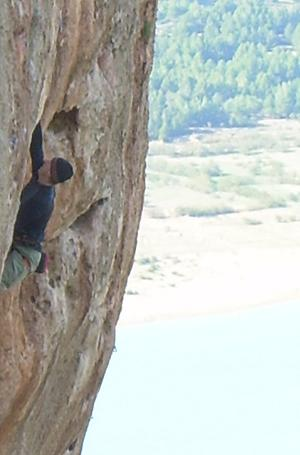 Rock climbing in climbing areas Desplomilandia and El Chorro, Andalusia