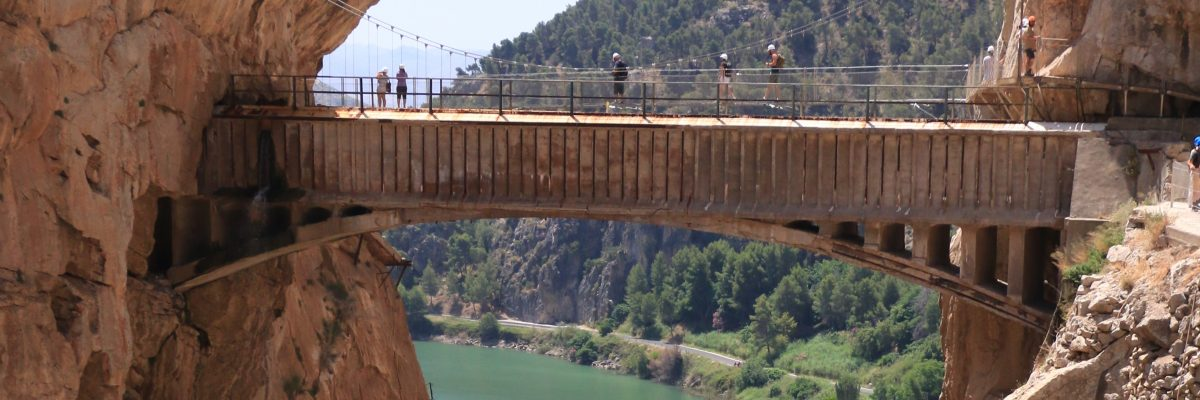 "The Lake Area of Malaga with the King's Little Pathway ""Caminito del Rey"""